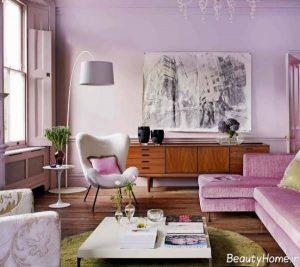 رنگ های مناسب برای دیوار اتاق پذیرایی