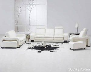 سالن پذیرایی سفید
