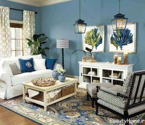 رنگ اتاق پذیرایی مدرن