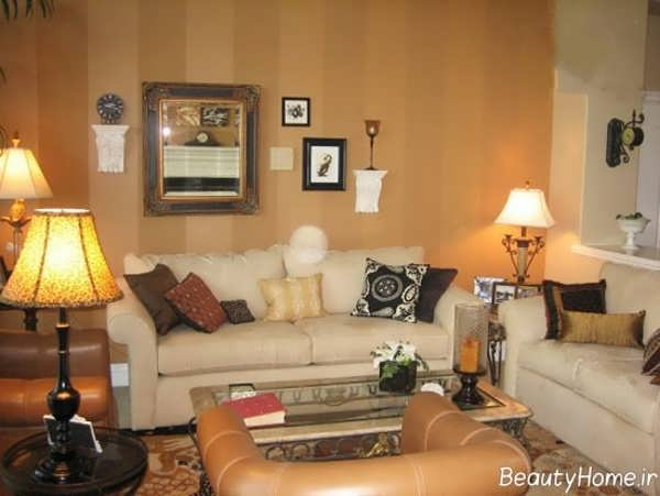 رنگ کرم کراملی اتاق پذیرایی