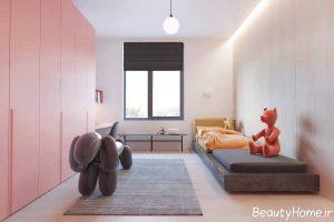 دکوراسیون داخلی اتاق خواب دخترانه مینیمال