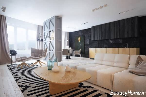 دکوراسیون مدرن و زیبا اتاق نشیمن