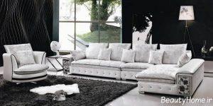 مدل مبل سفید فانتزی