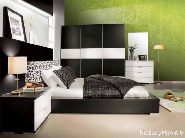 دئکوراسیون شیک و مدرن اتاق خواب دو نفره