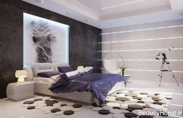 دکوراسیون زیبا و متفاوت اتاق خواب