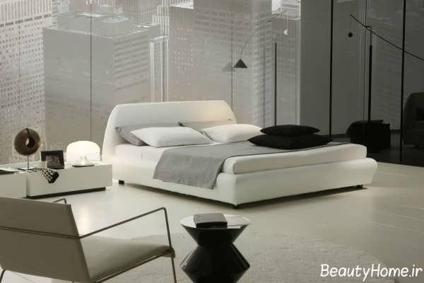 دکوراسیون سفید اتاق خواب دو نفره