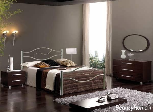 دکوراسیون اتاق خواب دو نفره با طراحی ساده
