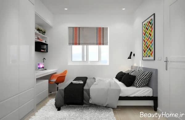 دکوراسیون اتاق خواب دو نفره مدرن و زیبا