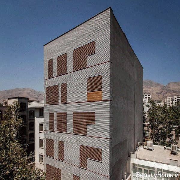 نما خاکستری و قهوه ای ساختمان