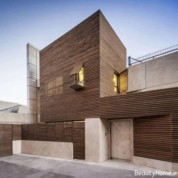 نما چوبی و شیک ساختمان