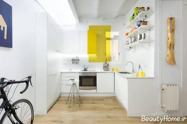 طراحی دکوراسیون داخلی آشپزخانه سفید
