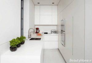 آشپزخانه سفید شیک و مدرن