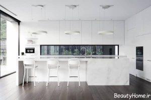 طراحی دکوراسیون زیبا و مدرن آشپزخانه