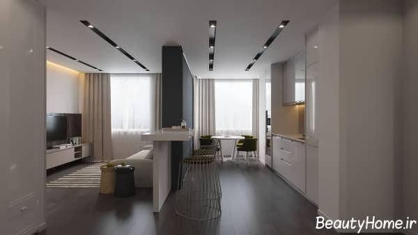 دکوراسیون شیک و جذاب خانه آپارتمانی