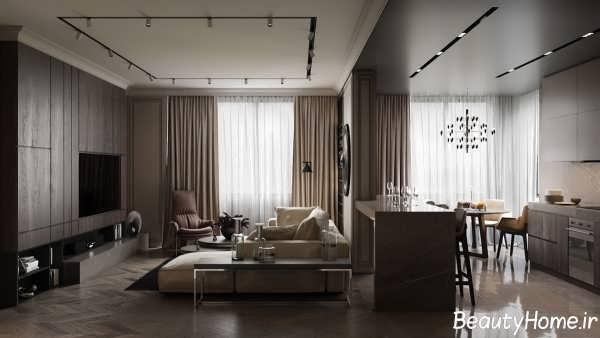 دکوراسیون زیبا و بی نظیر خانه آپارتمانی
