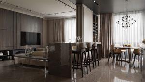 طراحی دکوراسیون 3 واحد آپارتمانی