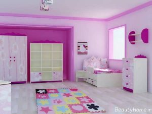 دکوراسیون زیبا و متفاوت اتاق خواب دخترانه