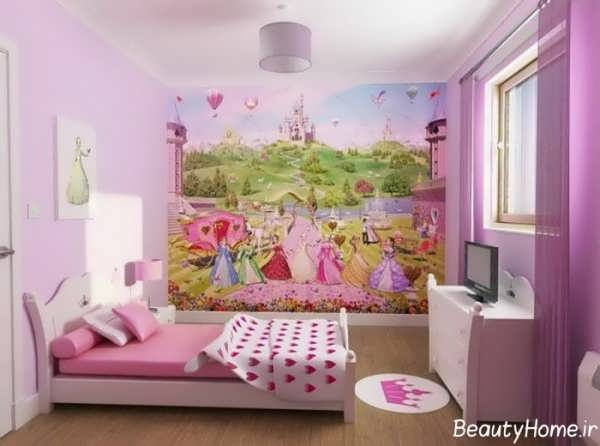 اتاق خواب های دخترانه با طراحی شیک و فانتزی
