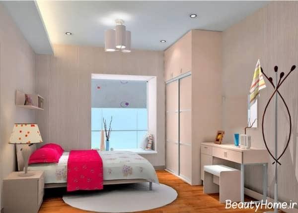 دکوراسیون اتاق خواب دخترانه با طراحی کاربردی