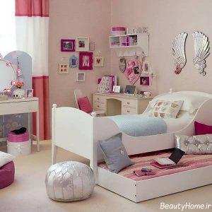 دکوراسیون زیبا و بی نظیر اتاق خواب دخترانه