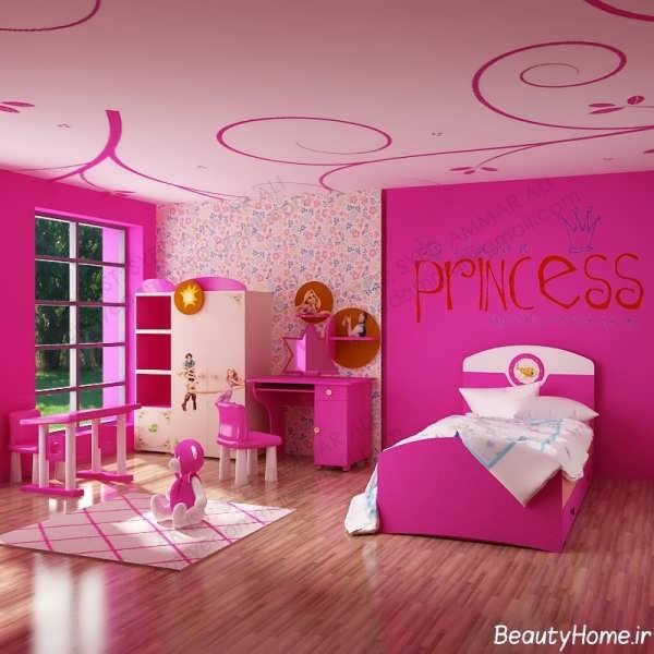 دکوراسیون صورتی اتاق خواب دخترانه