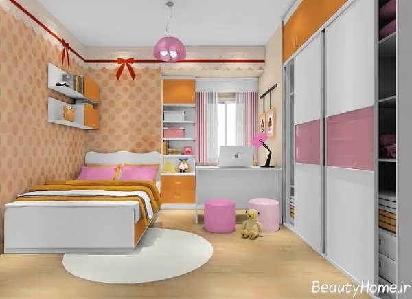 دکوراسیون شیک و مدرن اتاق خواب دخترانه