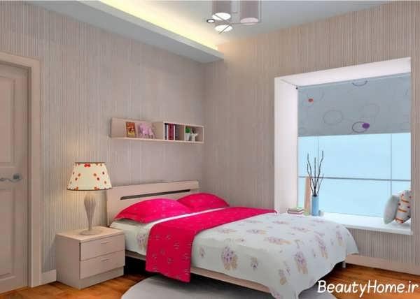 طراحی دکوراسیون داخلی اتاق خواب دخترانه