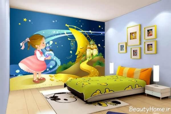 دکوراسیون زیبا و جذاب اتاق خواب دخترانه