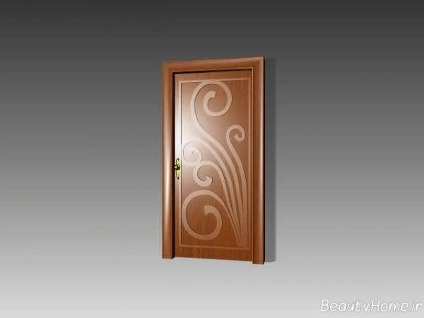 مدل درب طرح دار اتاق خواب