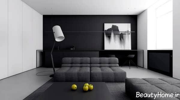- Living room black and white theme ...