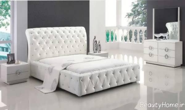 سرویس خواب شیک و سفید عروس