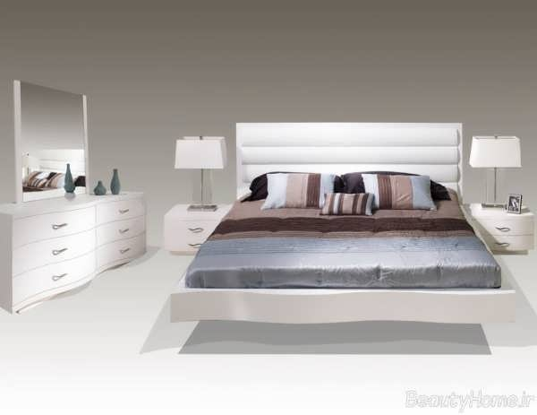 مدل سرویس خواب سفید عروس