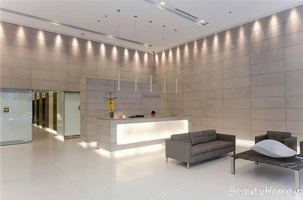 طراحی نورپردازی لابی ساختمان