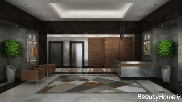 طراحی کاربردی و شیک لابی ساختمان