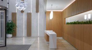 طراحی دکوراسیون لابی ساختمان