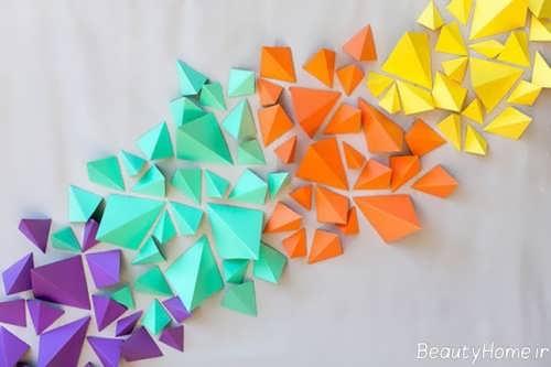 تزیین ساده اتاق کودک با کمک کاغذ رنگی