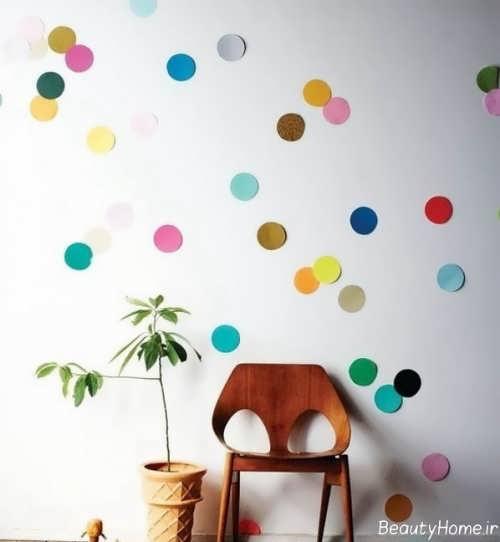 تزیین ساده دیوار اتاق کودک
