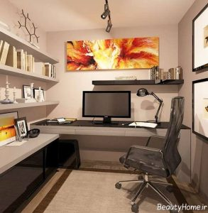 دکوراسیون مدرن دفتر کار کوچک