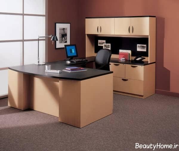 دکوراسیون مدرن و زیبا دفتر کار کوچک