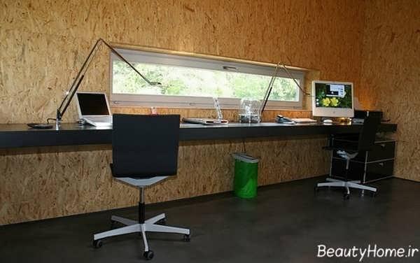 دکوراسیون شیک و کاربردی دفتر کار کوچک