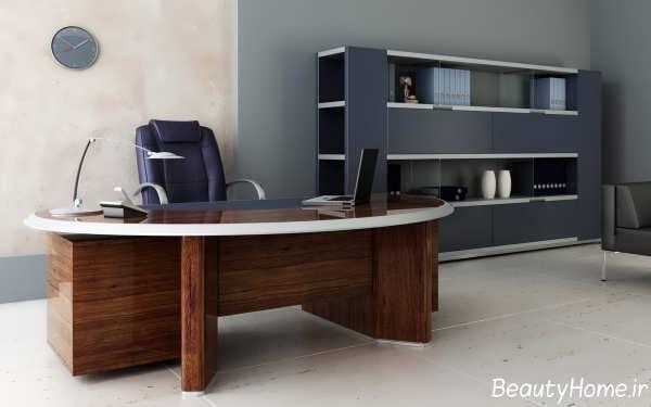 دکوراسیون زیبا و متفاوت دفتر کار کوچک