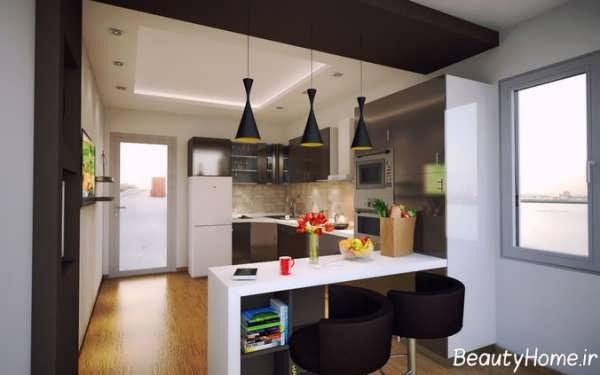 دکوراسیون داخلی آشپزخانه شیک و متفاوت