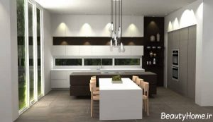 طراحی دکوراسیون آشپزخانه مدرن و شیک