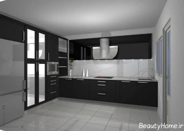 دکوراسیون تیره آشپزخانه