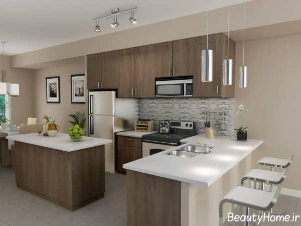 طراحی دکوراسیون آشپزخانه مدرن و زیبا