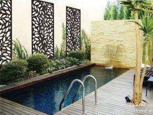 نما دیوار حیاط ویلا