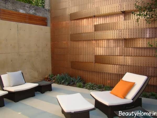 نما زیبا و شیک دیوار حیاط