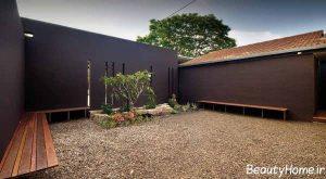نمای خارجی دیوار حیاط