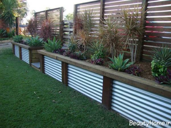 طراحی نمای دیوار با گیاهان