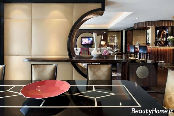 دکوراسیون زیبا و متفاوت لابی هتل